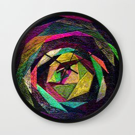 Quilted Rose Wall Clock