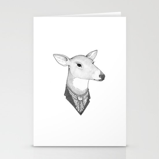 Mrs. Deer Stationery Cards