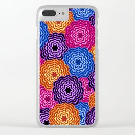 Dahlia Rainbow Multicolored Floral Abstract Pattern Clear iPhone Case