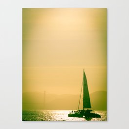 Sail Boat in the Bay Canvas Print