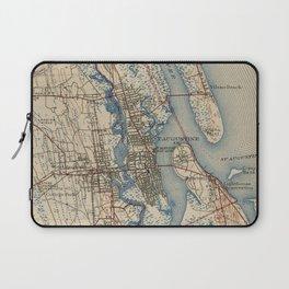 Vintage Map of St. Augustine Florida (1937) Laptop Sleeve