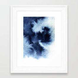 Indigo Nebula Framed Art Print