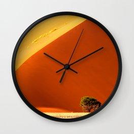 Red dunes of Sossusvlei Wall Clock