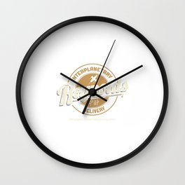 Interplanetary Delivery Wall Clock