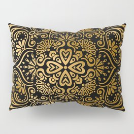 Sophisticated Black and Gold Art Deco Pattern Pillow Sham