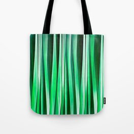 Aquamarine Ocean Stripy Pattern Tote Bag
