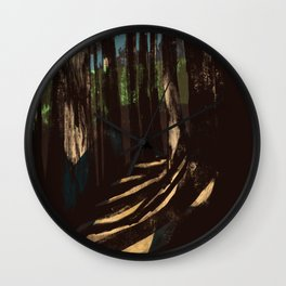Path Through the Redwoods Wall Clock