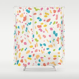 Colorful Animal Print Shower Curtain