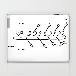 row the eighth boat oar sport Laptop & iPad Skin