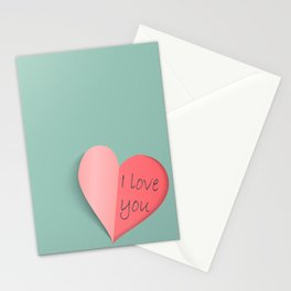 Open heart Stationery Cards