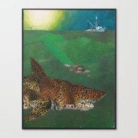 life aquatic Canvas Prints featuring Life Aquatic  by Michael Tunk
