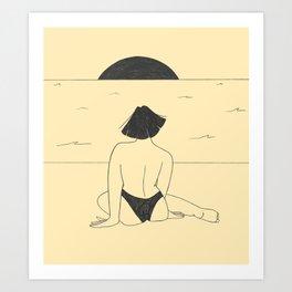 Mornings at the beach Art Print