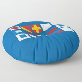 NAUTICAL FOR PETE'S SAKE Floor Pillow