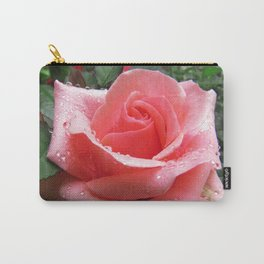 Pink Rose with Dew Carry-All Pouch