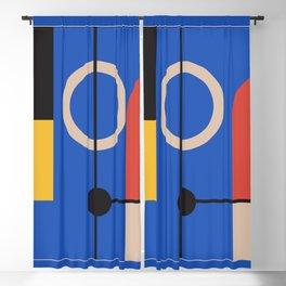 geometric abstract 212 Blackout Curtain