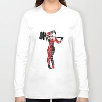 harley quinn Long Sleeve T-shirts featuring Harley Quinn by Ayse Deniz