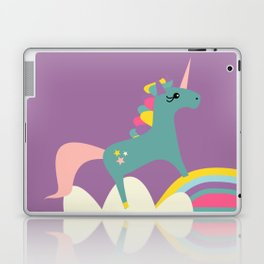 unicorn and rainbow purple Laptop & iPad Skin