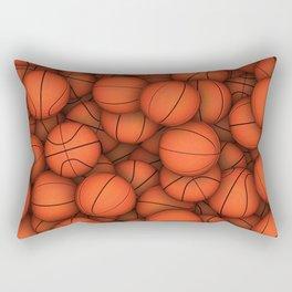 Basketball balls pattern Rectangular Pillow