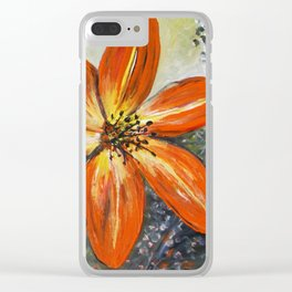 Daylily Clear iPhone Case