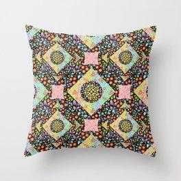 Boho Chic Patchwork Throw Pillow
