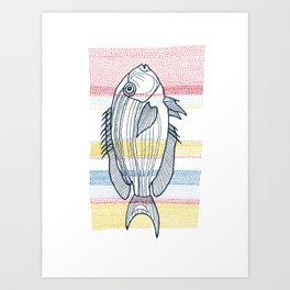 Stitches: Fish Art Print