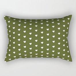 Army Heart Shape Pattern Rectangular Pillow