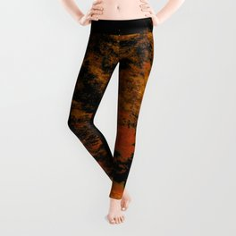 orange and electric texture Leggings