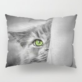 Small brother is watching you (b&w) Pillow Sham