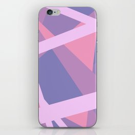 Pastel Pink and Purple Modern Geometric Lines iPhone Skin