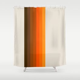 Retro Golden Rainbow - Straight Shower Curtain