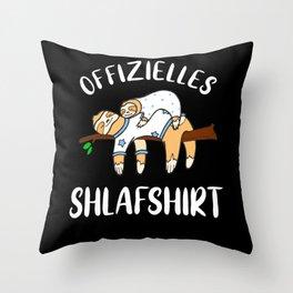 Faultiere Schlafshirt Pyjama Langschläfer Geschenk Throw Pillow