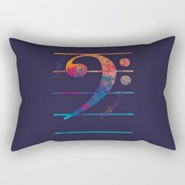 Bass Clef Color Rectangular Pillow