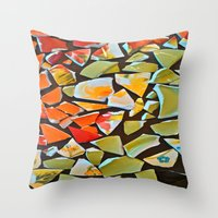 mosaic Throw Pillows featuring Mosaic by Maggie Dylan