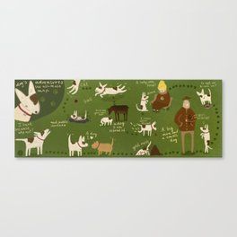 dog's adventures . an ultimate map Canvas Print