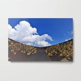 Volcanic crater of Etna Metal Print