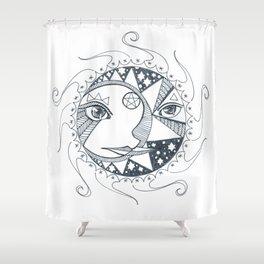 Moon, Sun, and Stars Shower Curtain