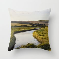 Cuckmere river Throw Pillow