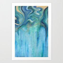 Blue and Green Swirls Art Print