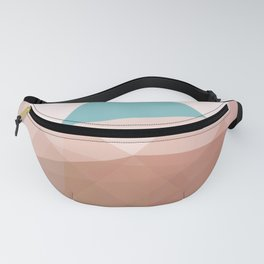 The Mint Triangle Peak - Minimal Abstract Geometry Fanny Pack