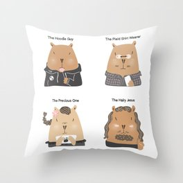 4 Common Types of Developers Throw Pillow