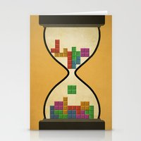 tetris Stationery Cards featuring tetris by gazonula