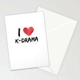 I Love K-Drama Stationery Cards