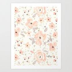 Blush Rosé Sparkle Art Print