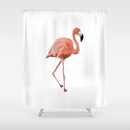 Pink Flamingo - Flamenco - 57 Montgomery Ave Shower Curtain