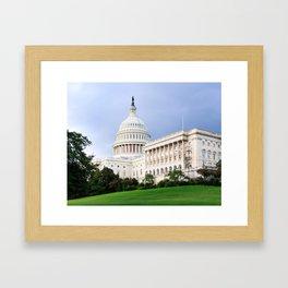 Capitol Hill at Dusk Framed Art Print
