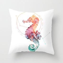 Spirit of the Seahorse Throw Pillow