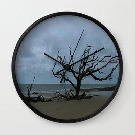 A Ghost Tree On Jekyll Island Beach Wall Clock
