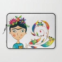 Frida Kahlo Watercolor Laptop Sleeve