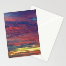 Cotton Candy coloured sky Stationery Cards