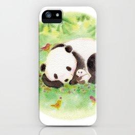 with mama panda iPhone Case